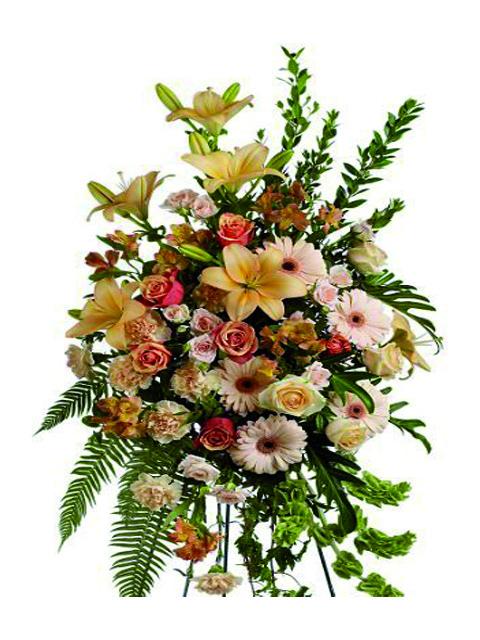 cuscino lutti di fiori misti